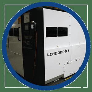 Machine om vlak materiaal te snijden met een fiber laser